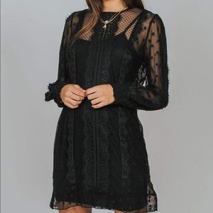 MINKPINK BLACK lace dress
